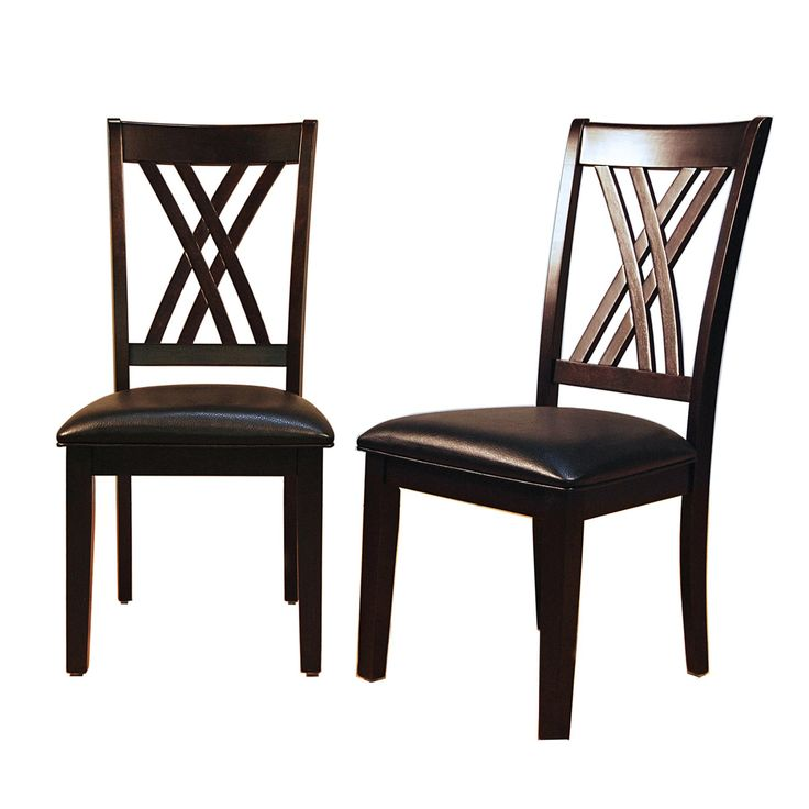A-America Montreal Double X Dining Side Chair - Espresso - Set of 2 - AAME051
