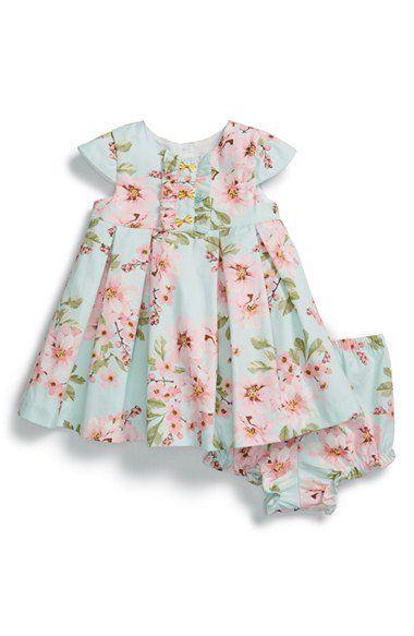 Pippa & Julie Floral Print Dress & Bloomers (Baby Girls)   Nordstrom