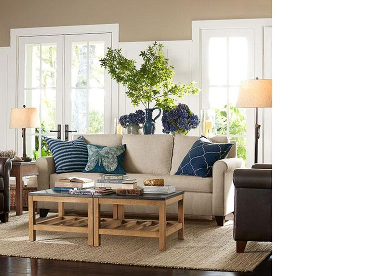17 best images about pottery barn on pinterest room decorating ideas entryway and benjamin for Pottery barn living room ideas pinterest