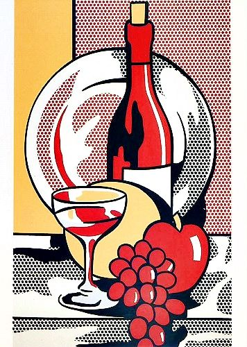 still life with red wine Roy Lichtenstein