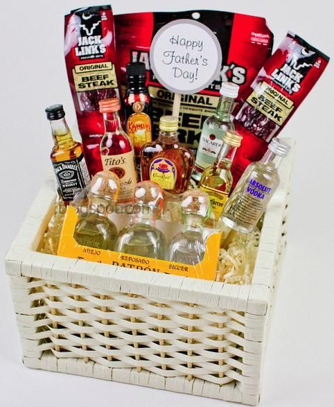 An alcohol gift basket that doesn't look girly: