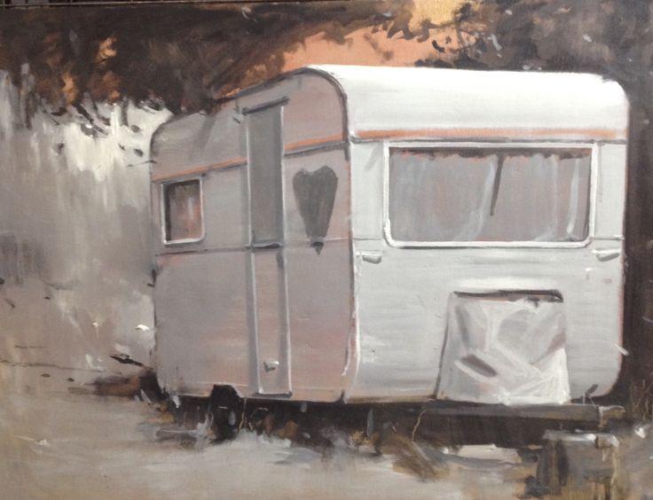"""""""La caravana del amor""""  óleo sobre tabla. Fernández Hurtado"""