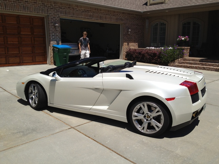 2007 Lamborghini Gallardo Spyder EGear Pearl White (With ...