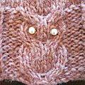 Suite à quelques demandes de lecteurs de ce blog, je vous propose ici le patron en français pour la réalisation d'un hibou en tricot,...