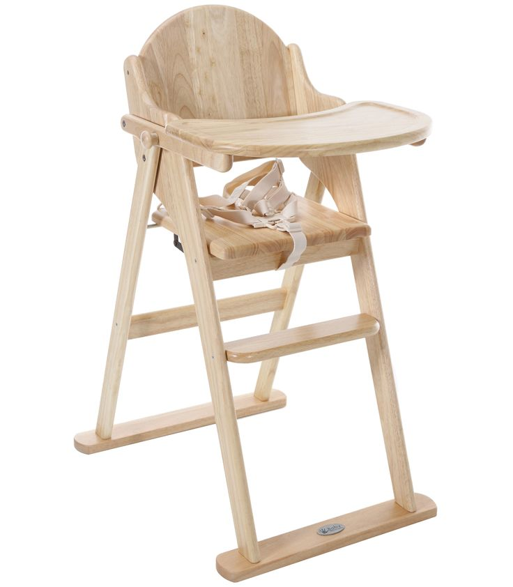 Buy your Baby Weavers Wooden Folding Highchair Natural from Kiddicare Woode
