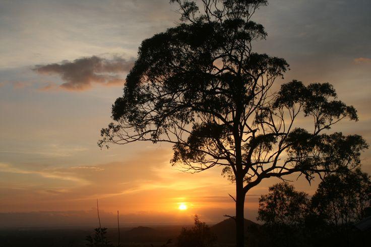 A beautiful sunrise taken from Uluramaya Retreat Cabins.