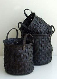 recycled rubber tire baskets
