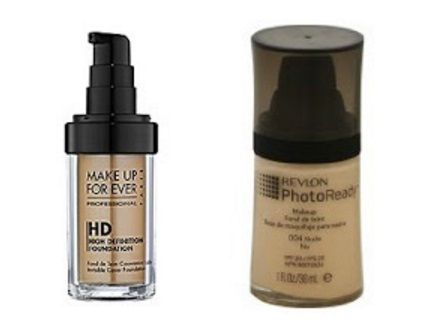 FOUNDATION DUPE ---- People swear by this drugstore swap. Makeup Forever HD Foundation === Revlon Photo Ready Foundation