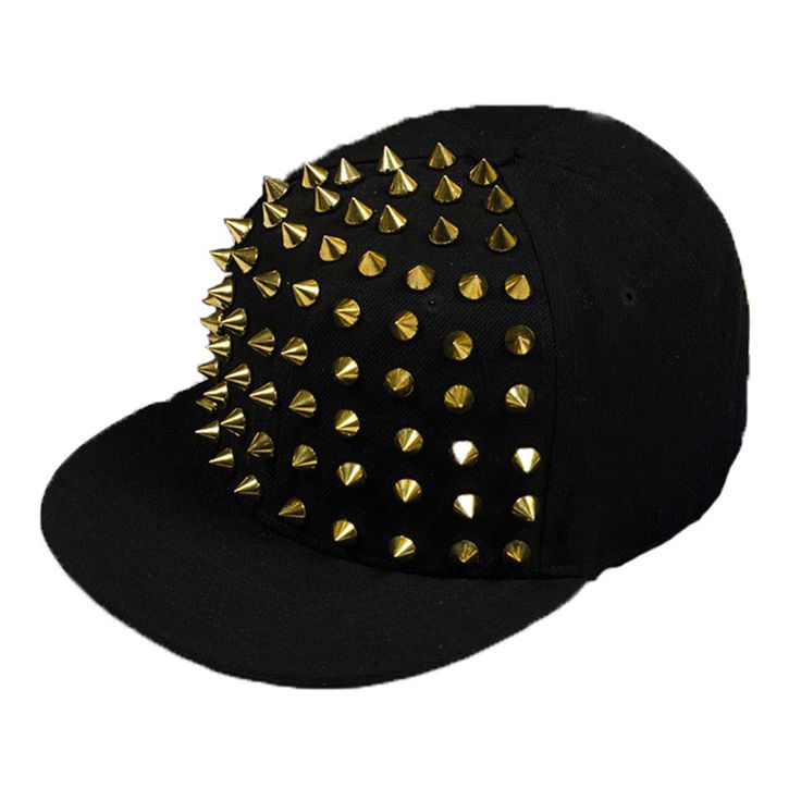 Find More Baseball Caps Information about Fashion Punk Rivets Hip Hop Flat Along Baseball Cap Peaked Hats Snapback Caps For Men And Woman,High Quality Baseball Caps from Open Sesame_tl on Aliexpress.com