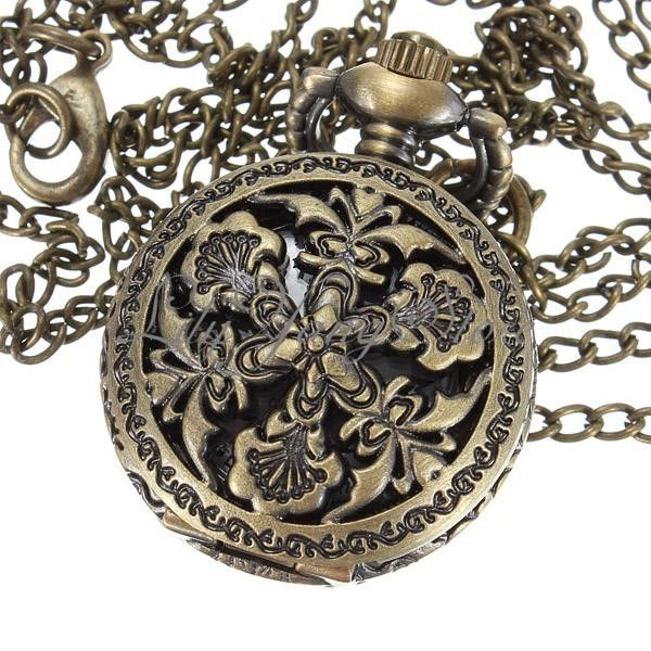 Three Flower Pocket Watch #bronze #gold #jewelry #necklace #pendant #pretty #steampunk #vintage  40% off orders over $50.  Free shipping and handling orders of $25 or more.  #Christmas #Present  www.ceesquared.ca