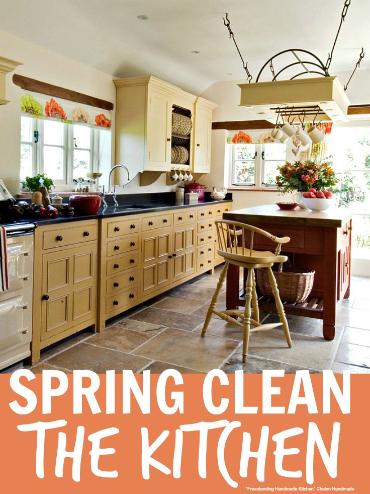 Spring Clean The Kitchen - 13 quick tips for spring cleaning the kitchen including how tos for everything you need to clean
