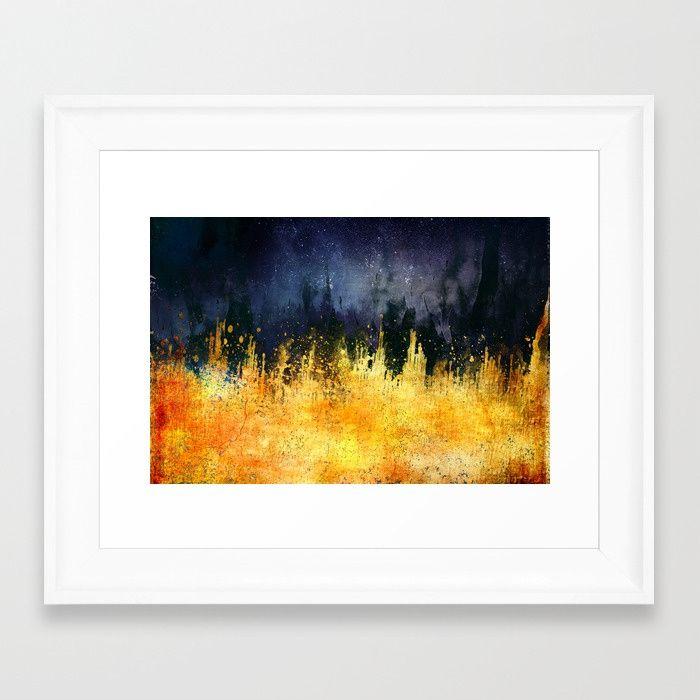 My burning desire Framed Art Print by HappyMelvin | Society6