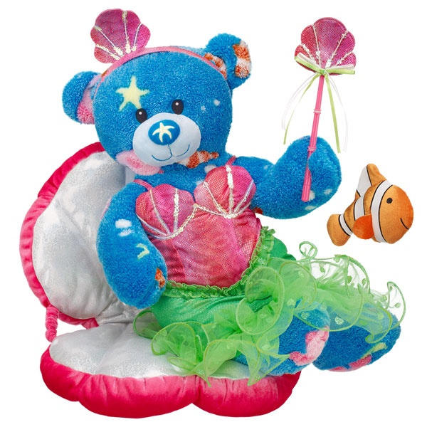 Mermaid Deep Blue Sea Bear Build A Bear Workshop Us Build A Bear Custom Teddy Bear Teddy Bear Stuffed Animal