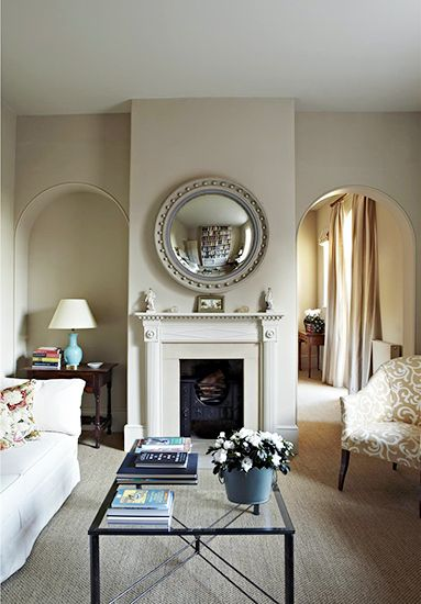 12 Best Warm Neutral Paint Colors For Your Walls // Convex Round Mirror,  Glass