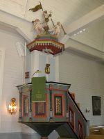 Muhoksen kirkon saarnatuoli 1600-luvun lopulta