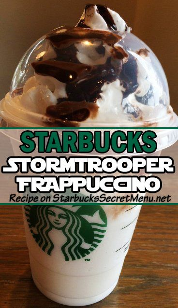 Caught up in #StarWars madness? Take it a step further and grab a Starbucks Stormtrooper Frappuccino! #StarbucksSecretMenu