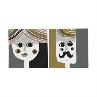 Forvandle bordet ditt til en designfest for øyet med de fargerike og fine serviettene Mr og Mrs. Kommer i 20-pack.