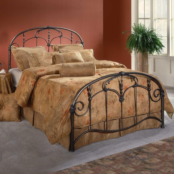 Hillsdale Jacqueline Metal Bed Headboards at