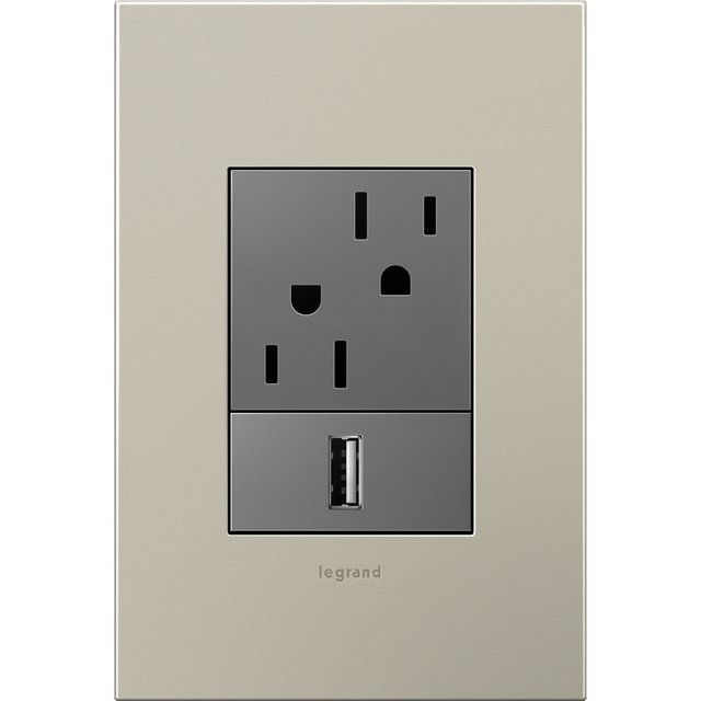 fancy usb outlet by legrand wall outlets plates on on wall outlet id=43538