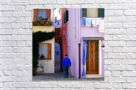 Sunday in Burano  Acrylic wall art  Large by VeniEtiamPhotography