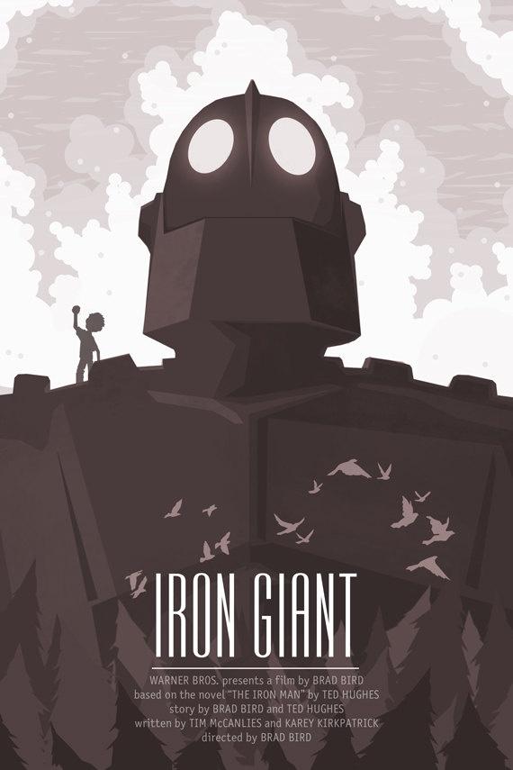 El Gigante de Hierro. Una de las últimas películas animadas tradicionales de Hollywood, de Brad Bird.