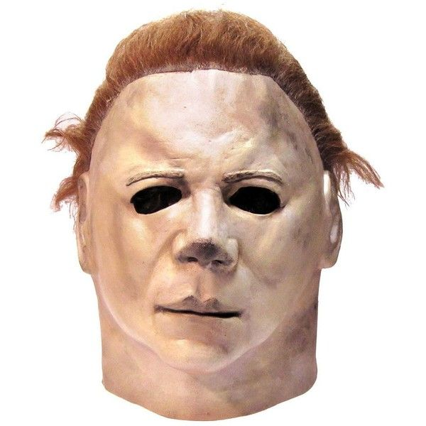 Halloween 2 Michael Myers Mask Adult ❤ liked on Polyvore featuring costumes, halloween, mask, michael myers costume, michael myers halloween costume, adult halloween costumes and adult costumes