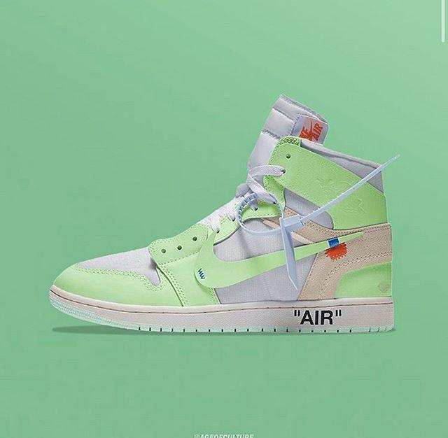 jordans white and green