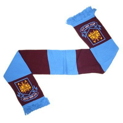 West Ham United FC - Official Retro Bar Scarf by West Ham United F.C.. $17.96. We buy our West Ham United soccer scarves direct from the club's representatives in the UK. All West Ham United scarves come in official West Ham United FC packaging with hologram and/or ba rcodes.