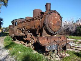 Antique ατμομηχανή στα Μέγαρα, Ελλάδα