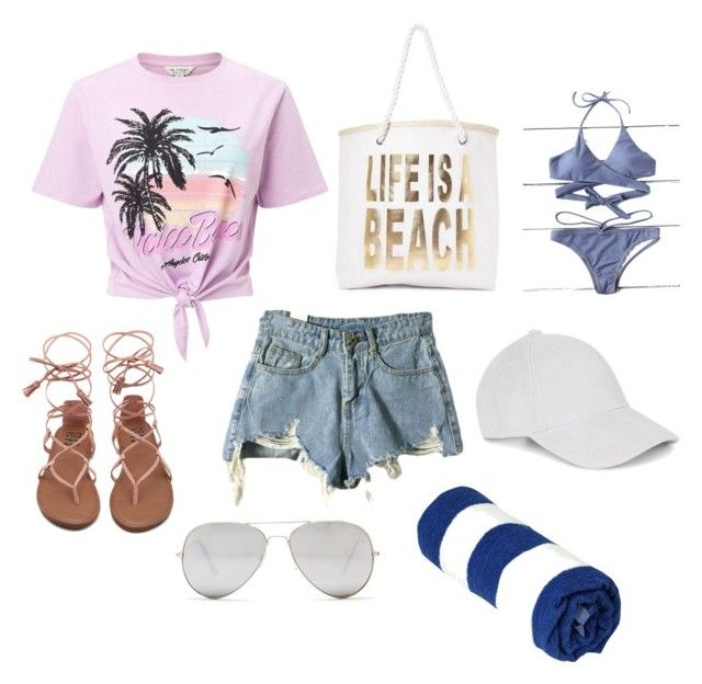 """""""Hawaii"""" by parvanitagis on Polyvore featuring Miss Selfridge, Nasty Gal, Le Amonie and Sunny Rebel"""