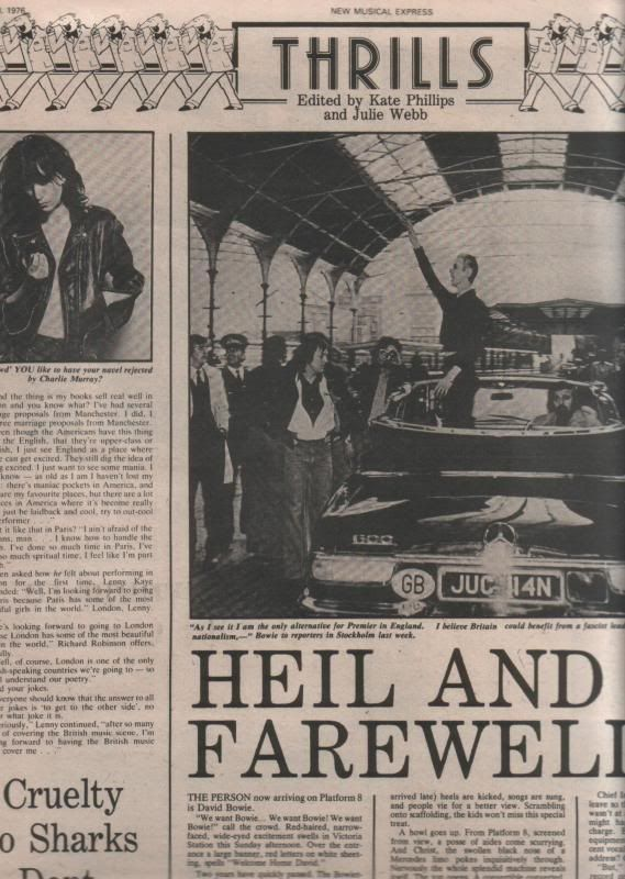 IN 1976, David Bowie was at Victoria station. A rockstar catching a train might be an extraordinary event, but something else caught the eye of the NME. Bowie was now working as the Thin White Duke...