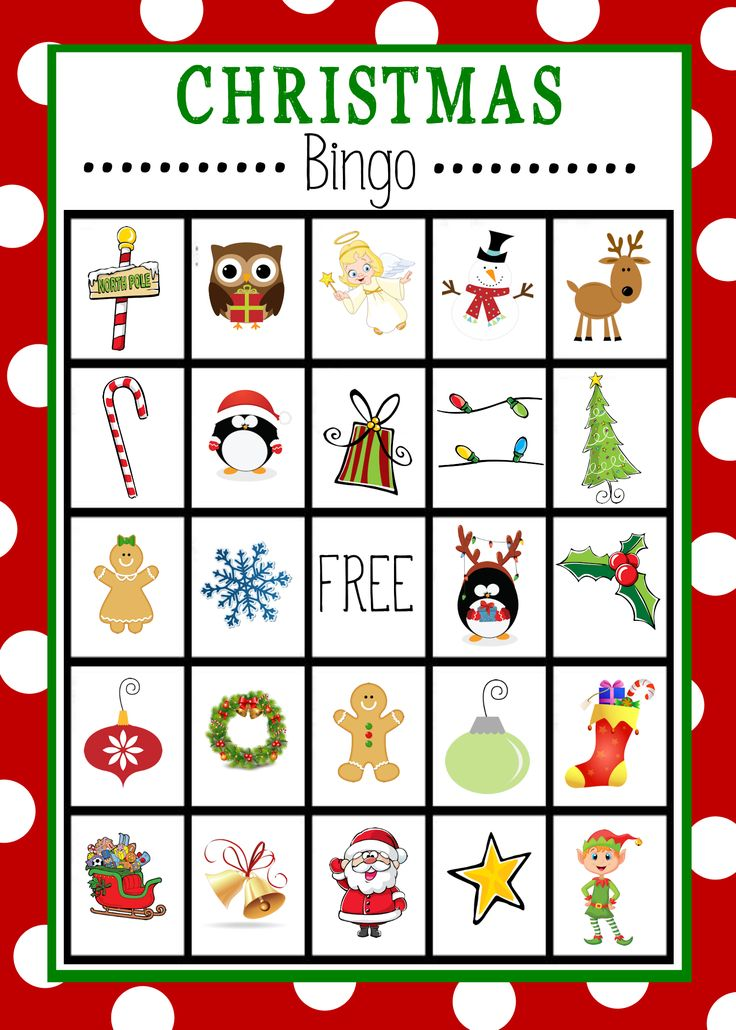 Free Printable Christmas Bingo Cards
