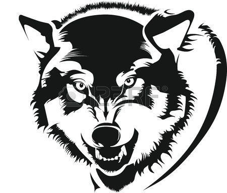 Das #Gesicht Eines #Wolfes #Lizenzfrei #Nutzbare #Vektorgrafiken, #Clip #Arts, #Illustrationen.