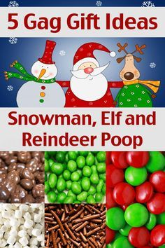 Snowman Poop, Elf Poop and Reindeer Poop - Homemade Christmas Gift Ideas - 5 Gag Gift Ideas