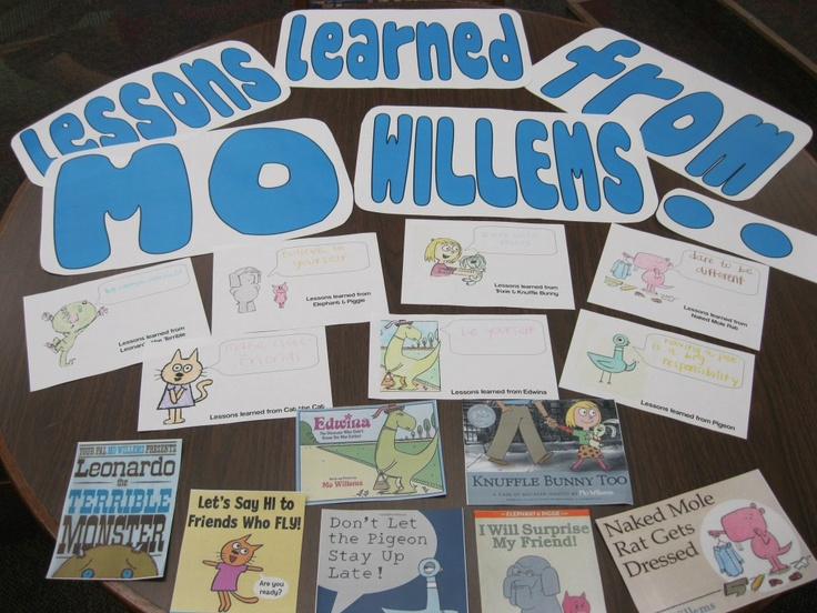 Lessons Learned from Mo Willems bulletin board
