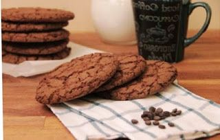 Dessert recipes: American Cookies with Chocolate.