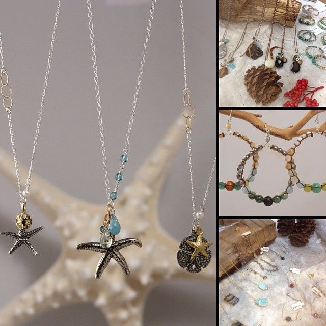 Sometimes it's the gifts that come in the smallest packages that make the biggest impact... Lovely ocean themed jewelry from Galileo. Handcr...