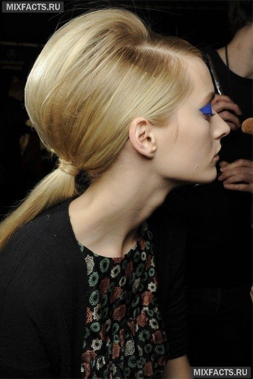 Прически с начесом на средние и длинные волосы