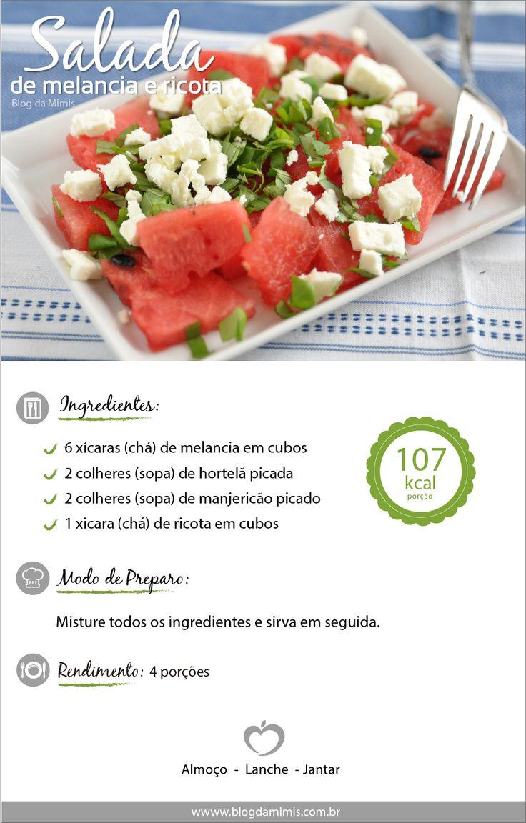 Salada de ricota com melancia