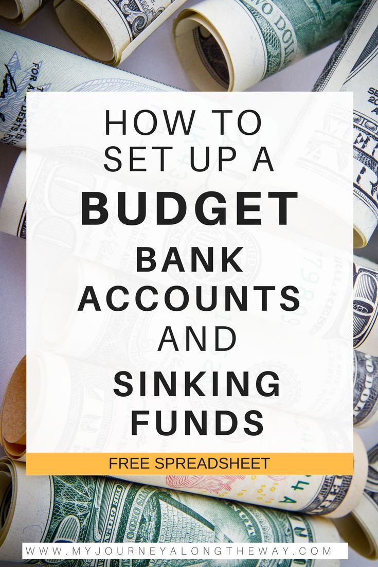 How to set up a budget, third post in the budgeting series. Learn what bank accounts that you need and how to set up a sinking funds account. Sinking funds are the key to saving more money and planning for emergencies.