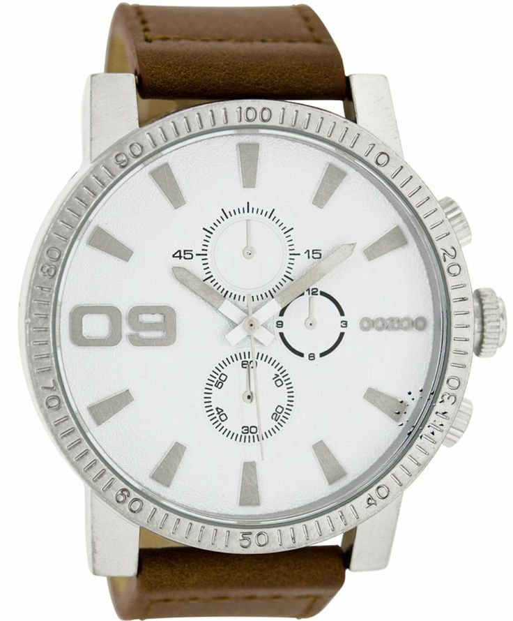 OOZOO Large Τimepieces Brown Leather Strap Μοντέλο: C6095 Η τιμή μας: 69€ http://www.oroloi.gr/product_info.php?products_id=35907
