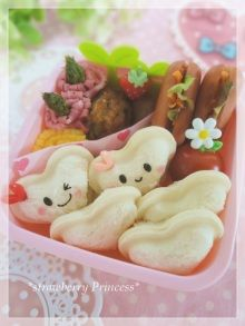 Heart sandwich bento     #food #bento #kawaii