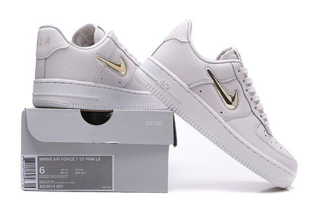 watch 5e5ce 945ec Nike Air Force 1'07 PRM LX White Gold Men's/Women's Casual Shoes AO3814-001
