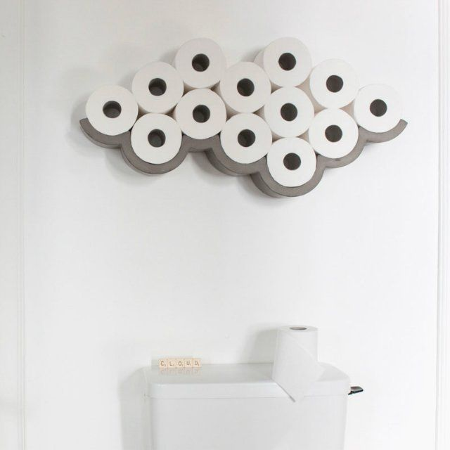 Great for homes and hotels alike, the Cloud is a wall-mounted storage and display unit with cumulus-like scallops that perfectly fit toilet paper rolls. With this handsome concrete design, toilet paper no longer has to hide in a closet or bin that is better used for other things. The space-efficient and attractive item lets you discard the packaging and see the playful side of everyday objects. Designed by Frenchman Betrand Jayr and manufactured by Lyon Béton, the cloud is a made-to-order…