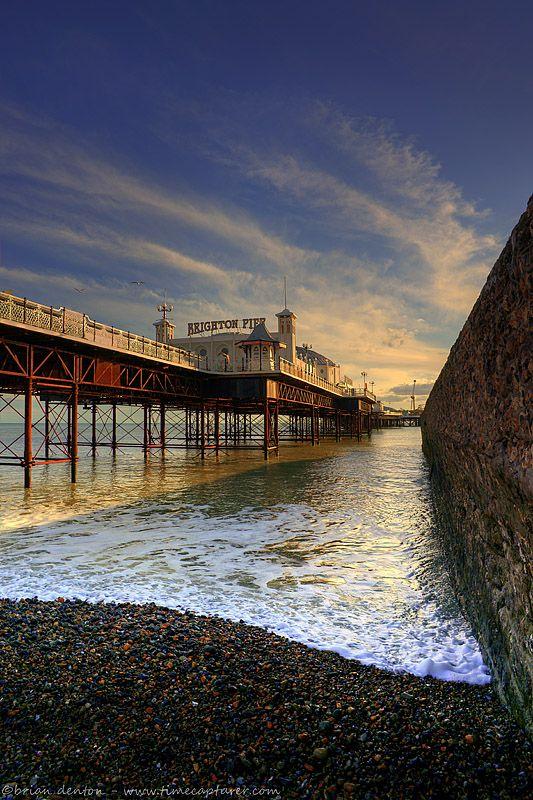 Pebbles Under The Pier, Brighton, England Copyright: Brian Denton