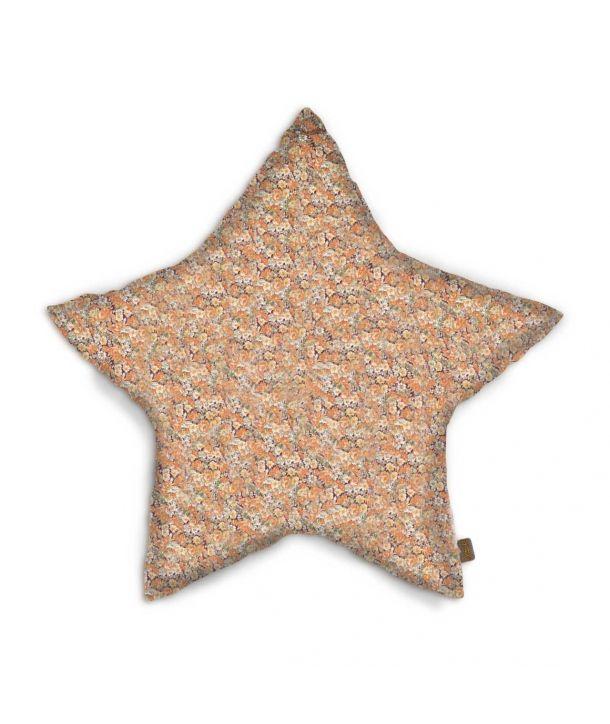 Star cushion bohemian golden flowers
