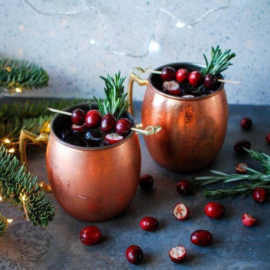 Cranberry Moscow Mule. A delightfully festive take on a classic cocktail using Fentimans botanically brewed mixers.