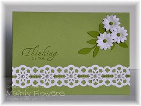 Mainly Flowers Independent Stampin' Up! Demonstrator Joanne Gelnar: Pear Pizzazz and Ribbon Lace