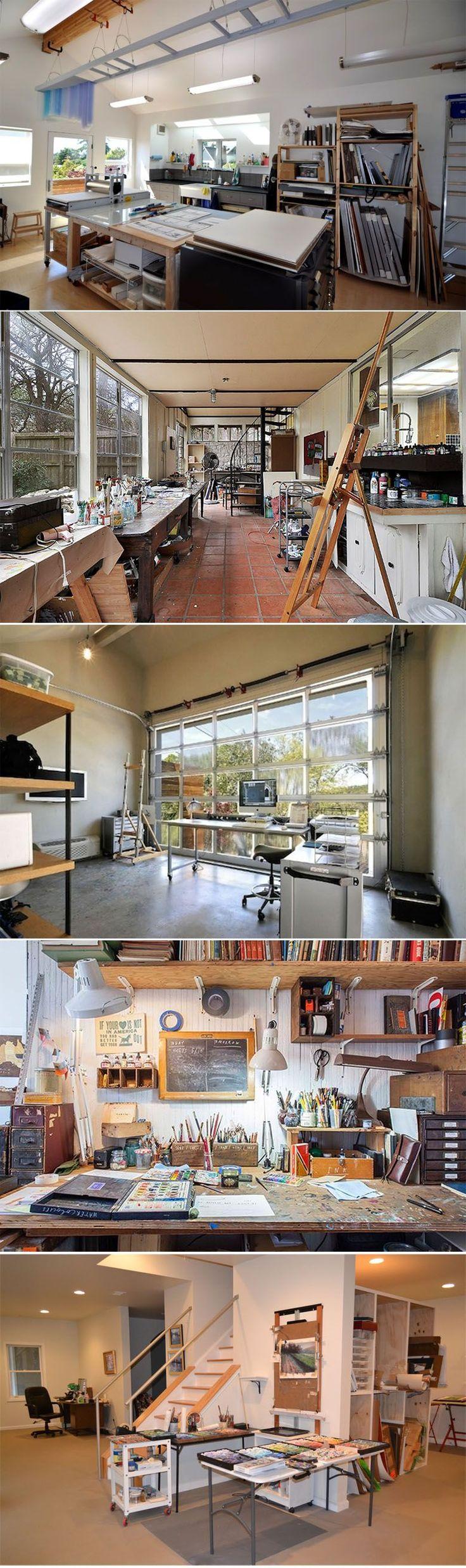 Find this Pin and more on Salas de artesanato. Creative Home Studio /  Workspace idea Artist studio