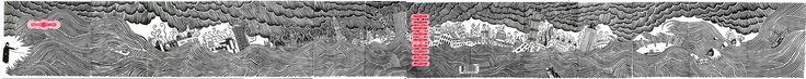 Thom Yorke 'The Eraser' (full artwork) Linocut by Stanley Donwood